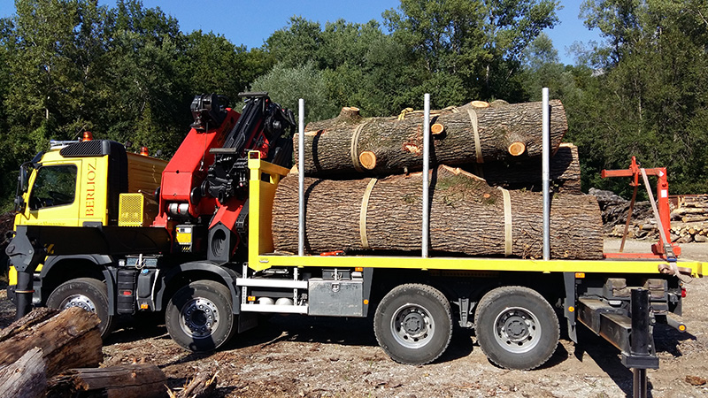 Transport de bois entre ranchets